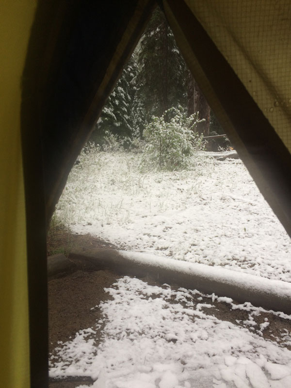 Zelt im Schnee